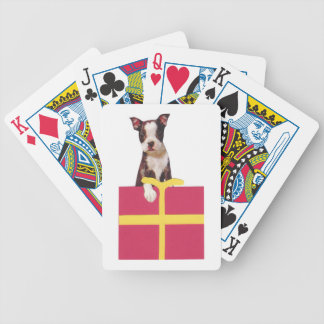Boston Terrier Dog Gift Box Playing Cards