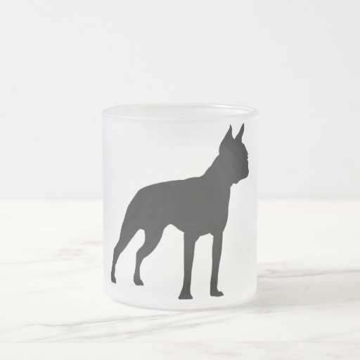 Boston Terrier Dog Gifts (black) 10 Oz Frosted Glass Coffee Mug