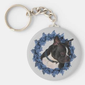 Boston Terrier Dog Keychain