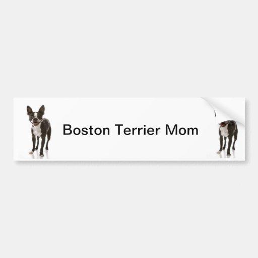 Boston Terrier Dog Mom Bumper Sticker