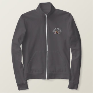 Boston Terrier Dog Mom Embroidered Jacket