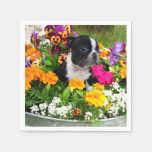 Boston Terrier dog Paper Napkin