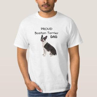 Boston Terrier dog proud dad custom mens t-shirt