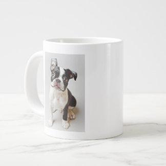 Boston Terrier dog puppy. Giant Coffee Mug