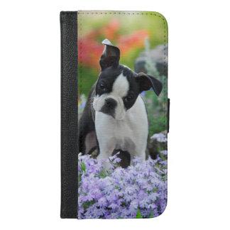 Boston Terrier Dog Puppy iPhone 6/6s Plus Wallet Case