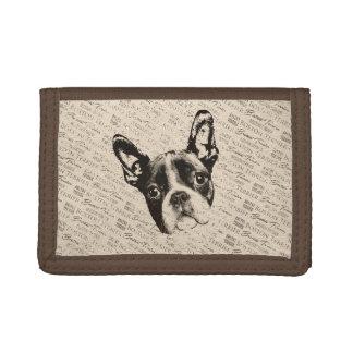 Boston Terrier dog Trifold Wallet