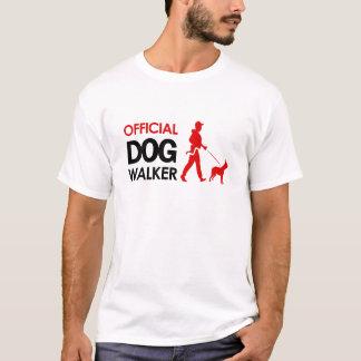 Boston Terrier Dog walker T-shirt