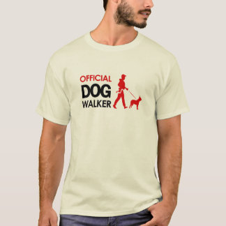 Boston terrier Dog Walker T-shirt