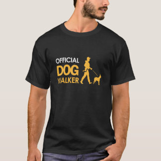 Boston terrier Dogwalker T-shirt