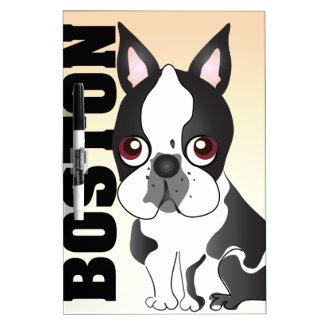 Boston Terrier Dry Erase Whiteboards