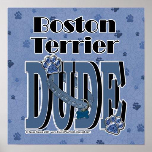 Boston Terrier DUDE Poster