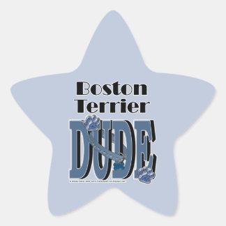 Boston Terrier DUDE Star Sticker