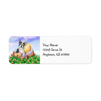 Boston Terrier Easter Labels