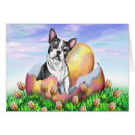 Boston Terrier Easter Surprise Card