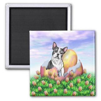 Boston Terrier Easter Surprise Magnet