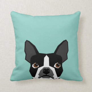 Boston Terrier - ejemplo lindo del arte del Almohadas