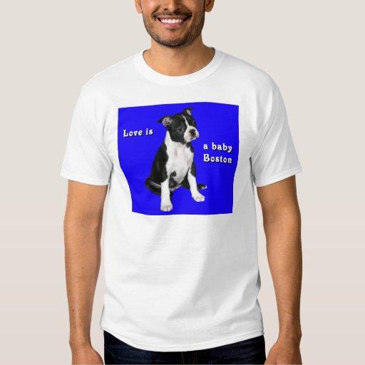 Boston Terrier:  El amor es un bebé Boston Polera