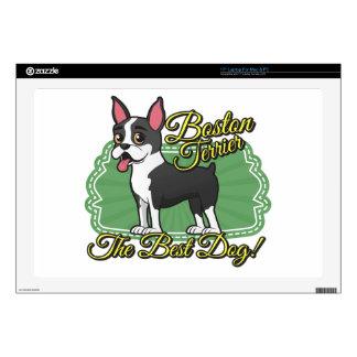 ¡Boston Terrier - el mejor perro! Calcomanías Para Portátiles