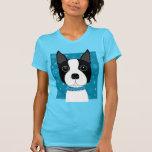 Boston Terrier en invierno Camisetas