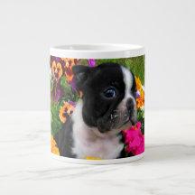 Boston terrier extra large mug