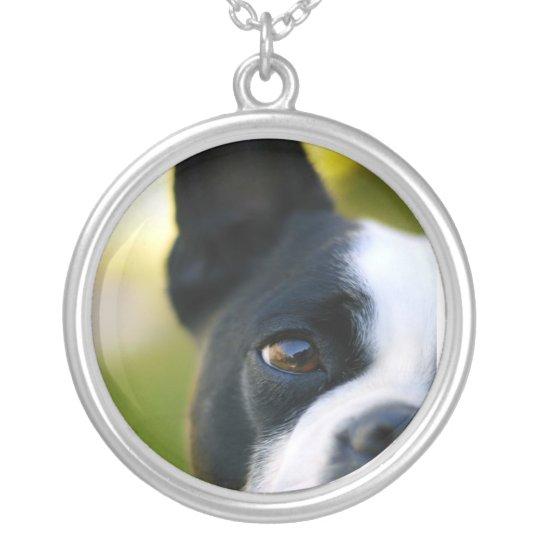 Boston Terrier Eye Necklace