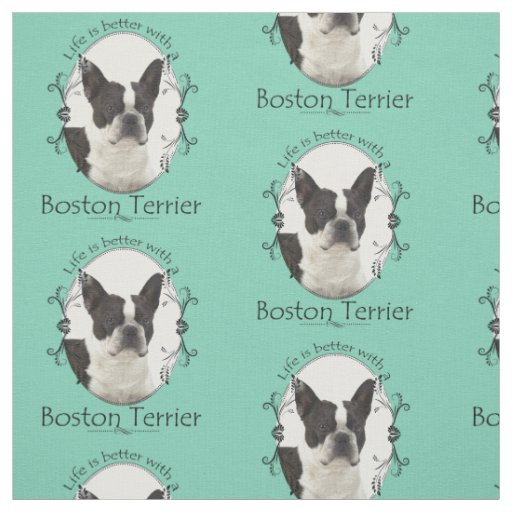 Boston Terrier Fabric Zazzle