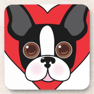 Boston Terrier Face Beverage Coaster