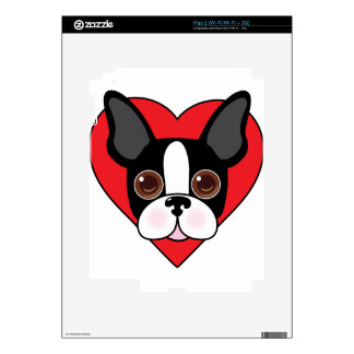 Boston Terrier Face Decal For The iPad 2