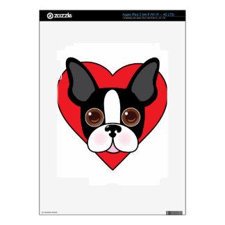 Boston Terrier Face iPad 3 Decal