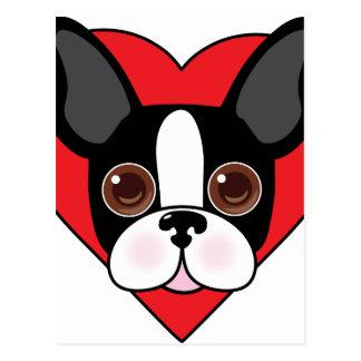 Boston Terrier Face Postcard