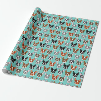 Boston Terrier Faces Wrapping Paper - cute gift