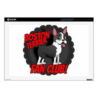 "Boston Terrier Fan Club Skins For 17"" Laptops"
