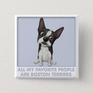 Boston Terrier Favorite Button
