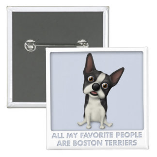 Boston Terrier Favorite Button