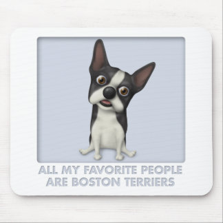 Boston Terrier Favorite Mouse Pad