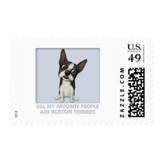 Boston Terrier Favorite Postage