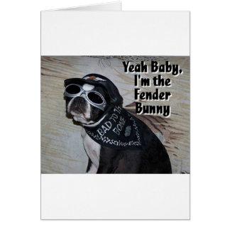 Boston Terrier:  Fender Bunny Card