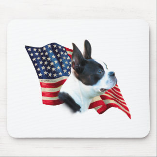 Boston Terrier Flag Mouse Pad