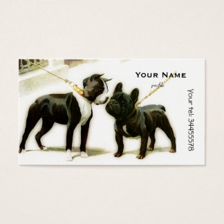 BOSTON TERRIER&FRENCH BULLDOG BUSINESS CARD