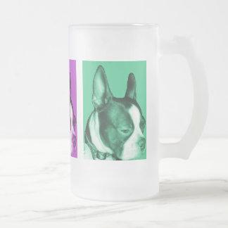 Boston Terrier Frosted Mug