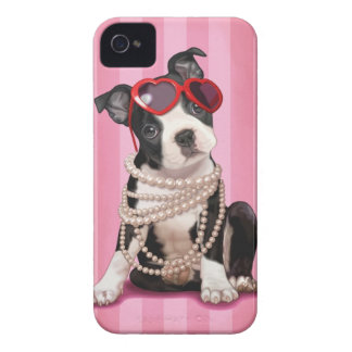 Boston Terrier iPhone 4 Case-Mate Funda
