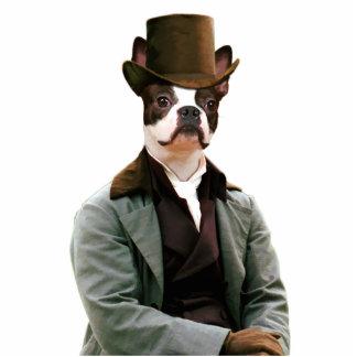 Boston Terrier Gentleman with Hat Gifts Photo Scul Photo Sculptures