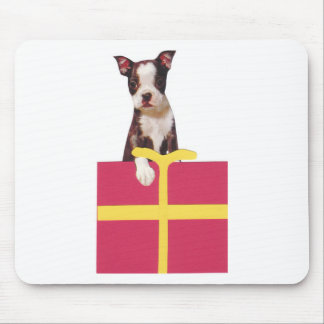 Boston Terrier Gift Box Mouse Pad