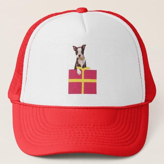 Boston Terrier Gift Box Trucker Hat