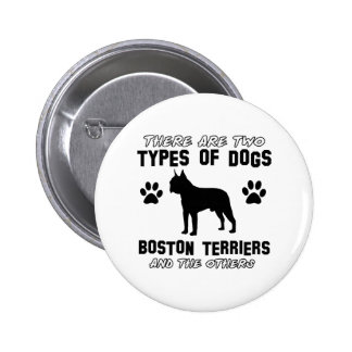 BOSTON TERRIER gift items Pinback Buttons