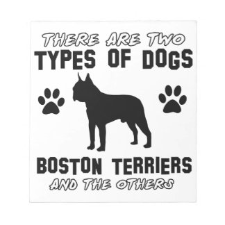 BOSTON TERRIER gift items Note Pad