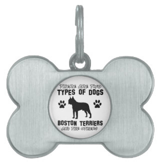 BOSTON TERRIER gift items Pet ID Tags