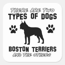 BOSTON TERRIER gift items Square Sticker