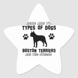 BOSTON TERRIER gift items Star Sticker