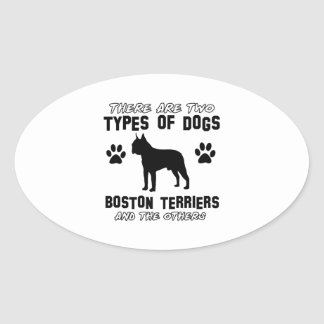 BOSTON TERRIER gift items Oval Stickers